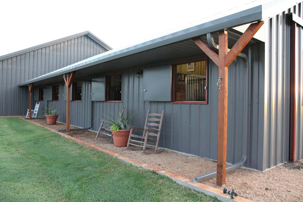 The exterior of the stable.