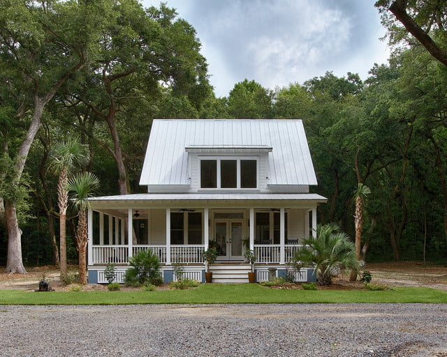 Medium sized custom farmhouse w wrap around porch 7 hq for Metal building homes with wrap around porch