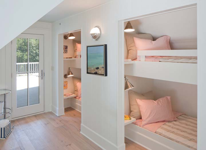 Bunk rooms for kids on the third floor