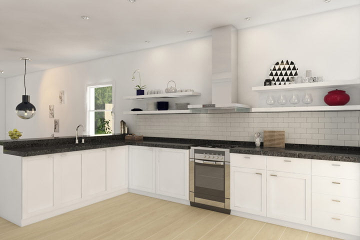 The kitchen with a modern touch