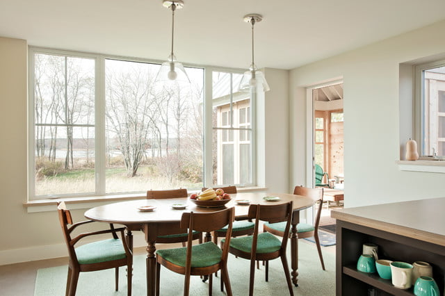 Dining Area with wide angled windows perfect for your morning coffee view