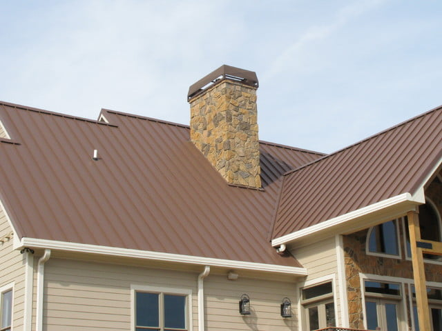 With a modern chimney for better ventilation