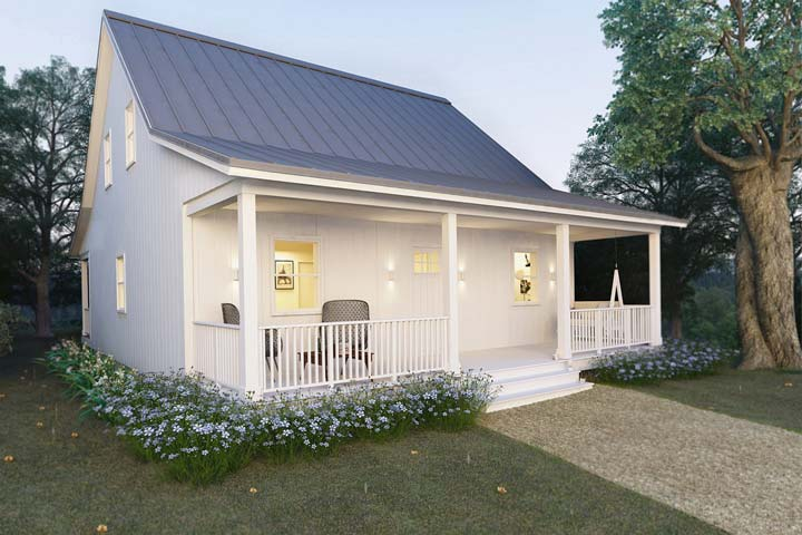 Steel frame ready cottage house for comfy living hq plans for View floor plans for metal homes