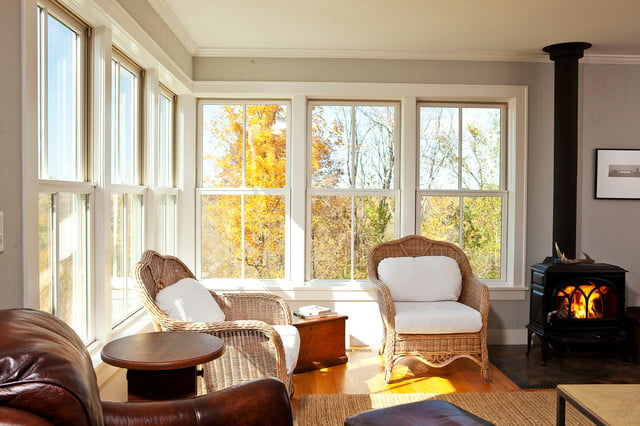 Natural light wafts into the property