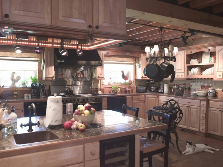 Fully-furnished kitchen