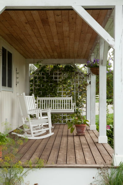 The screen porch provides a relaxing spot for hanging out as well.