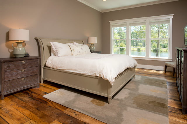 Master suite with its beautiful bed