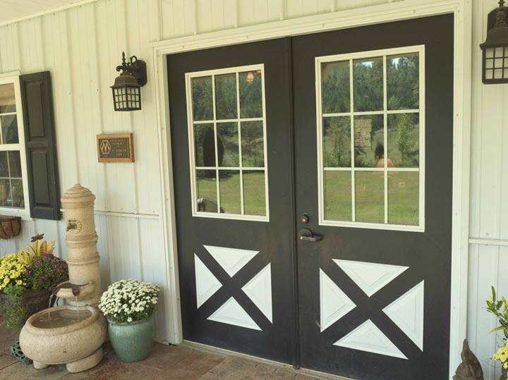 Farm-inspired door