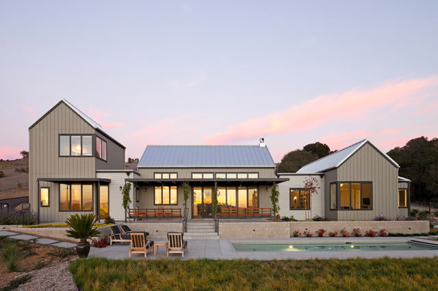 Magnificent modern farmhouse w garage pool porch 15 for Industrial farmhouse exterior