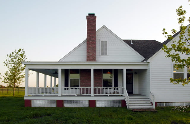 Rockin farmhouse w wrap around porch in texas 6 hq for Metal building farmhouse plans