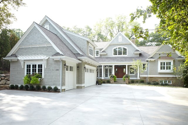 The overall look of the house poses a distinct  and contemporary charm
