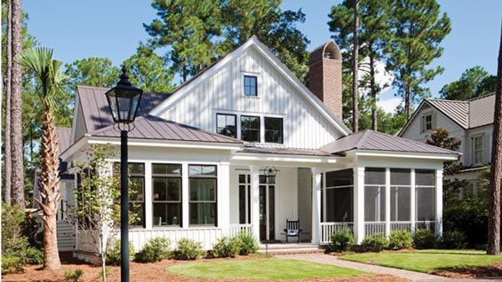 Lovely low country style house w lots of features hq for One story low country house plans