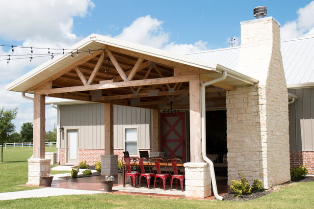 Superb metal building hobby barn garage w outdoor for Pavilion cost per square foot