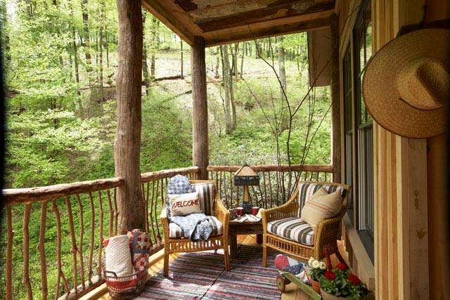 A delightful porch where everyone can spend a cozy afternoon