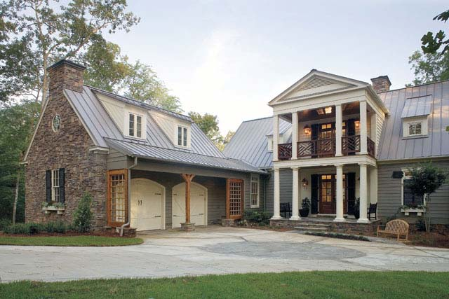 Beautiful traditional home w lovely interior hq plans for Beautiful metal building homes
