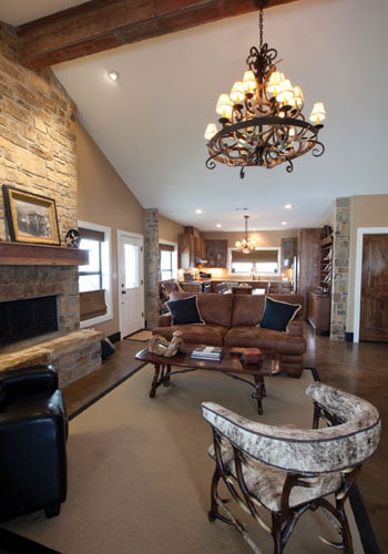 Stunning Metal Barndominum W Stone Wainscot And Lovely