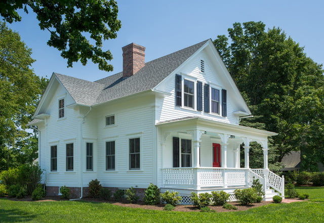 A long shot of this 1890s-inspired farmhouse