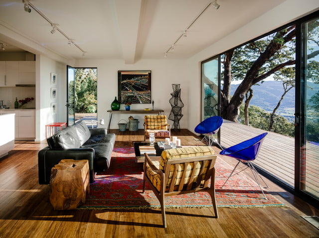 A sun-drenched living room