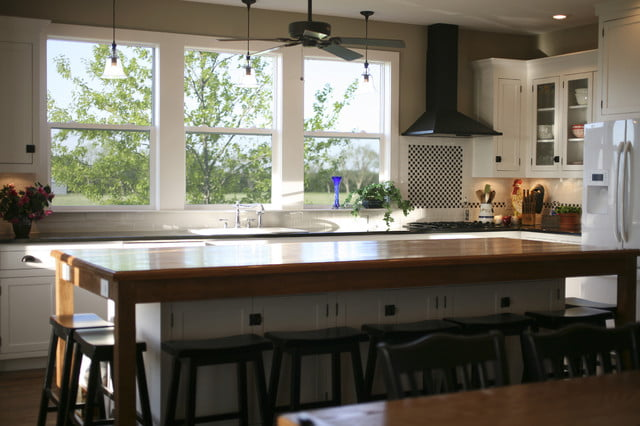 The kitchen with the beautiful view