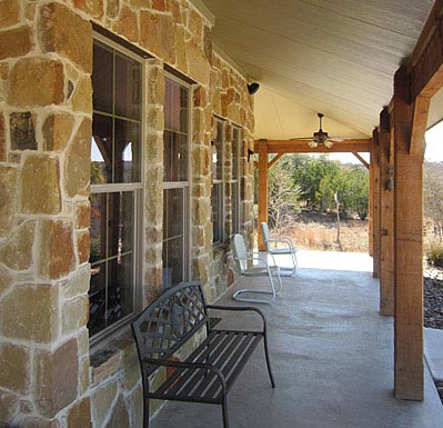 A spacious porch to enjoy the view outside