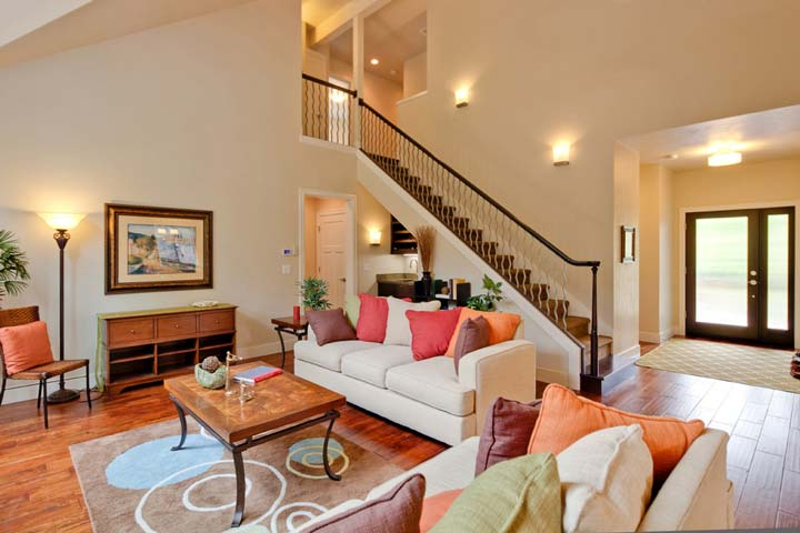 Grand, beautifully vaulted great room as you enter