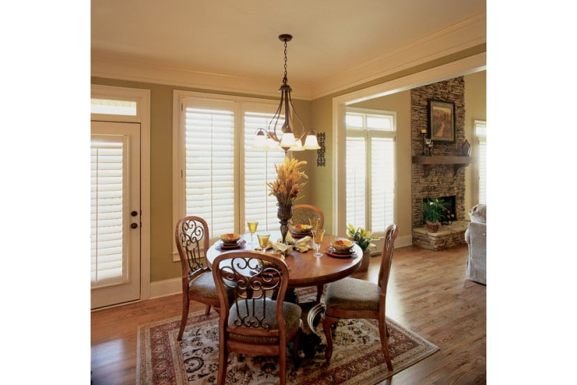 Ample windows allow light to easily waft into the property