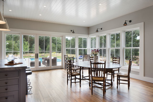 The dining room is also a good hangout spot and also leads to the poolside.
