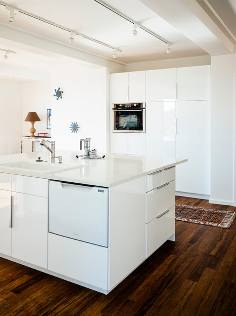 An immaculate white kitchen
