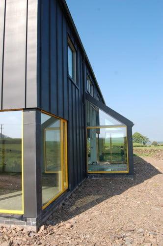 Metal farmhouse w detached garage guest living quarters for Metal garage with living quarters