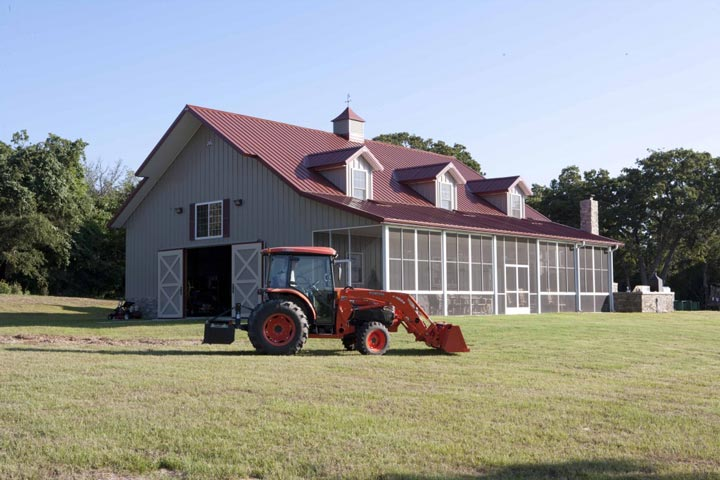 The oversized barn
