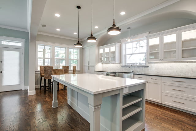 Well-lighted and spacious kitchen
