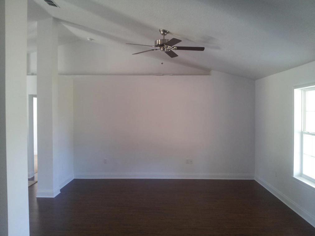 An empty space ready for an aesthetic interior design