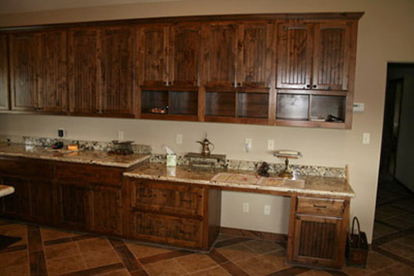 and the kitchen counter