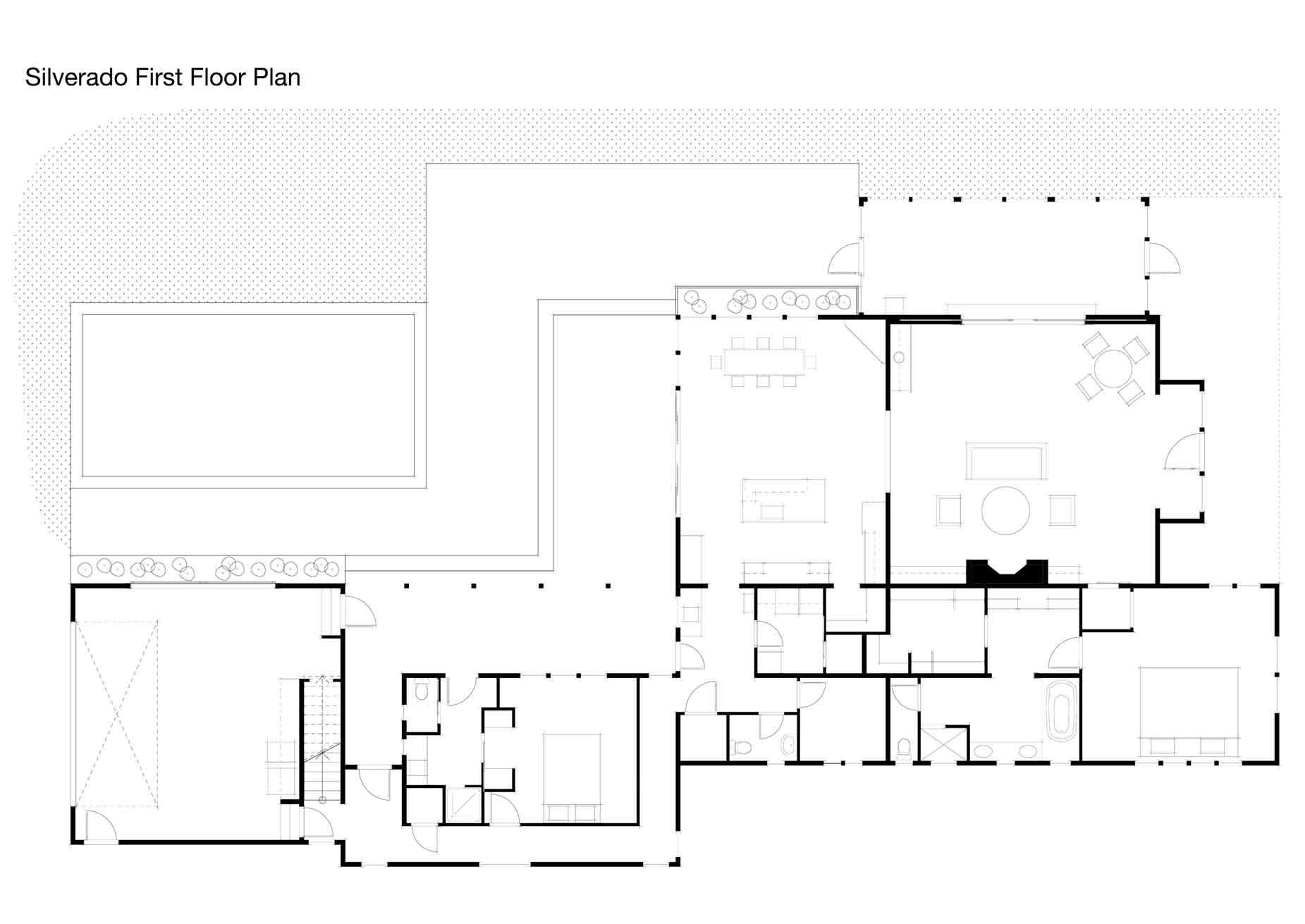 Silverado Farmhouse w Barn & Pool Area 6 HQ & Plan