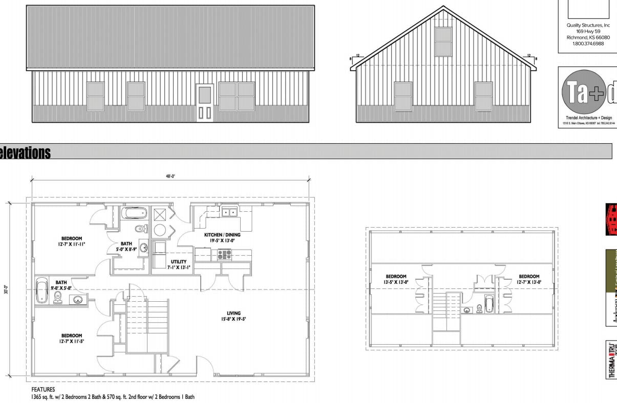 Lovely simple metal building home of 1935 sq ft hq for Simple barn home plans