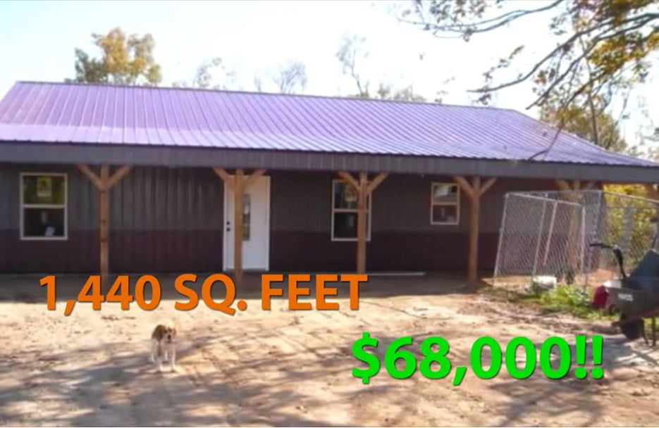 Real story 1 440 sq feet metal pole barn for only for 1500 sq ft metal building