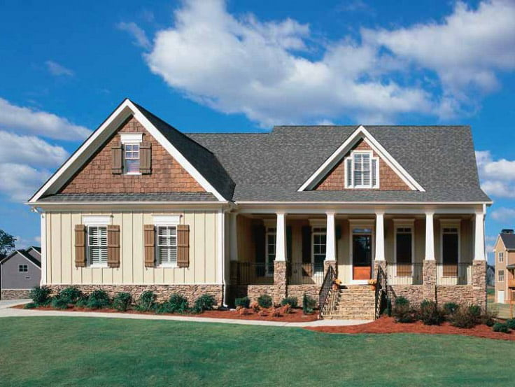 Beautiful 2 182 sq ft house w classy interior hq plans for Beautiful metal building homes