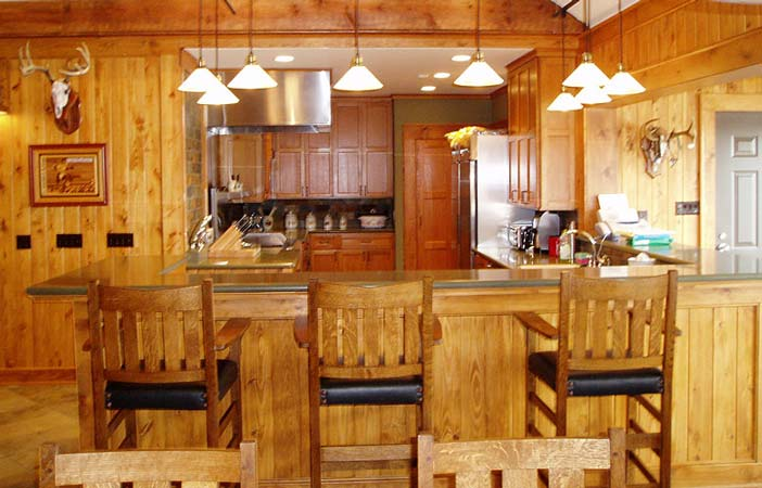 Who wouldn't love to have these pieces of wooden furniture in your kitchen?