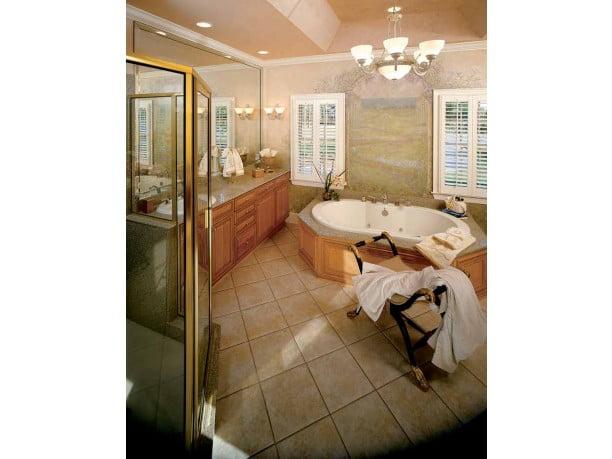 This elegant and spacious bathroom