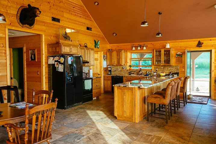 A simple, cozy kitchen with great attention to detail