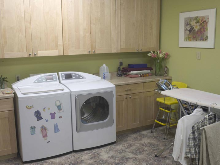 laundry room in the house