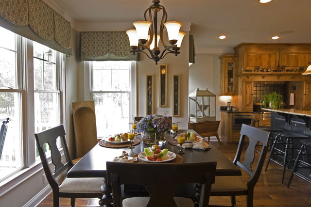 A boost in the dining experience will be achieved with such an impressive dining area idea