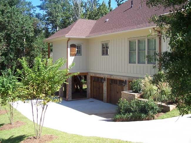 Basement with garage