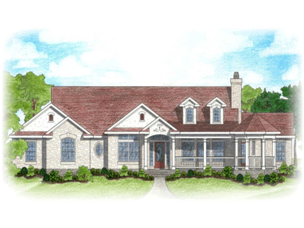 One story ranch plans wrap around porch and garage joy for Ranch style metal homes