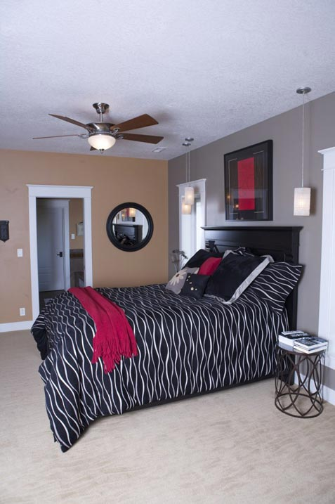 One of the bedrooms. Colors are very vibrant and blend well together.