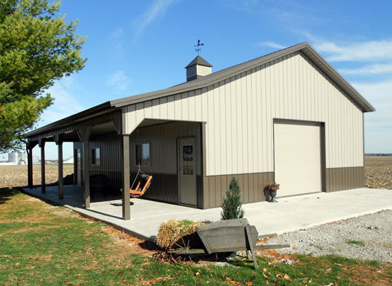 Bungalow - Composite Brown Steel-framed house