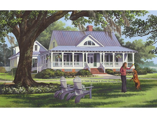 Stunning country cottage house w wrap around porch hq for Free house plans with wrap around porch