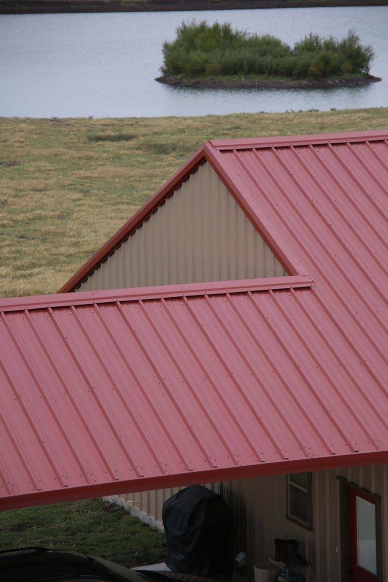 A close-up look of the roof
