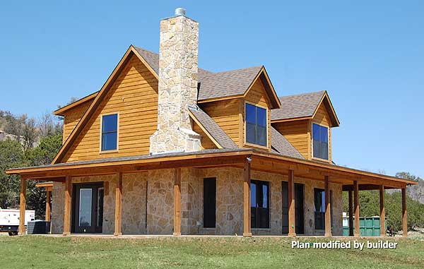 Perfect choice for wrap around porch lovers hq plans for Metal building farmhouse plans