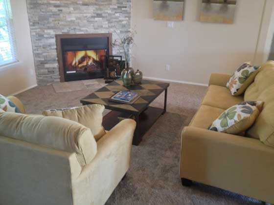 The relaxing and comfy living room